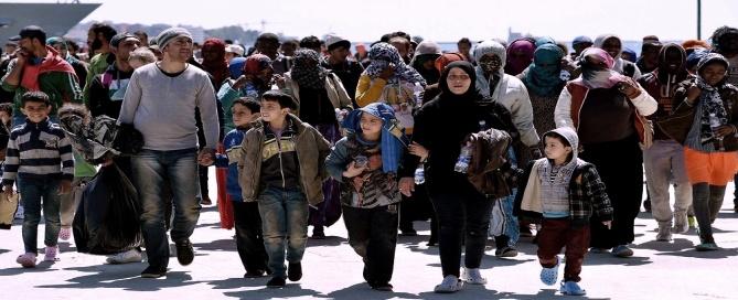 uprchlici na jihu italie